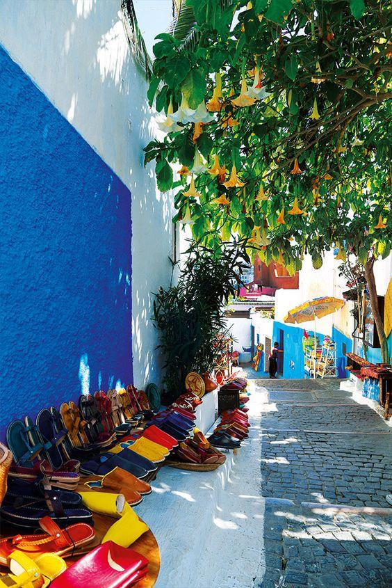 Des babouches artisanales,Rabat